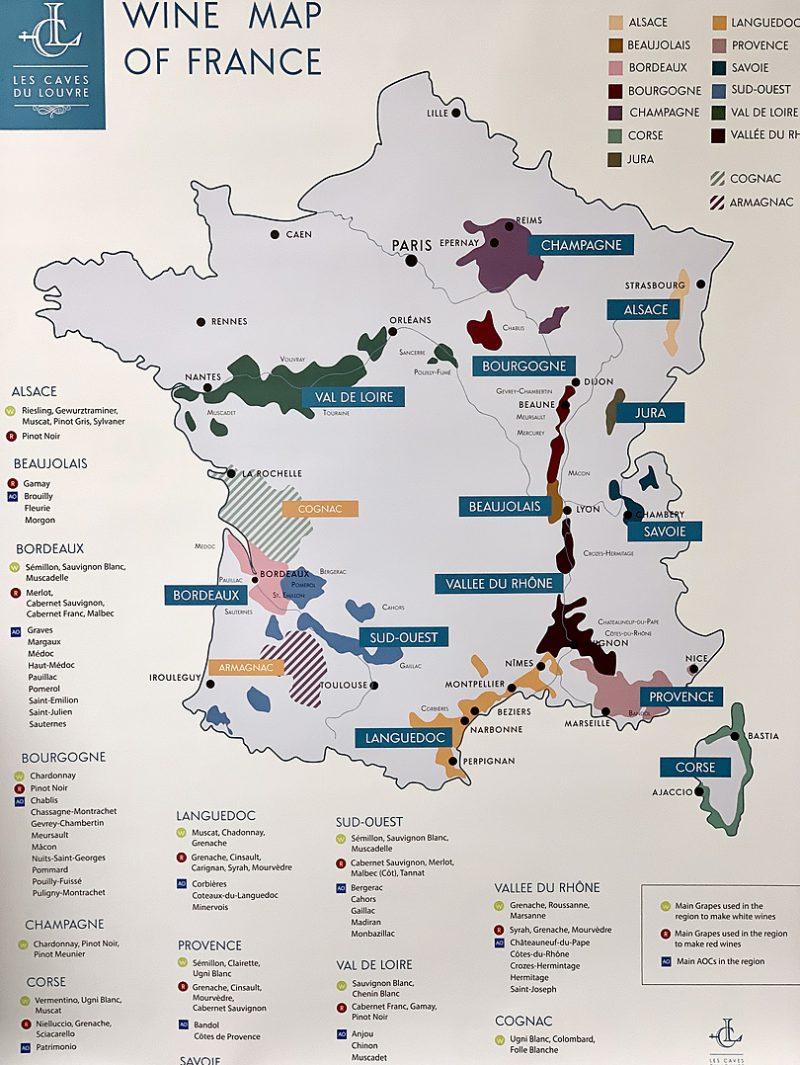 フランスワインの代表的な産地