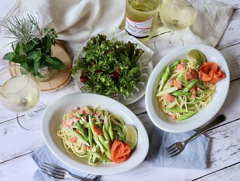 白ワインとの相性ばっちり!アスパラガスのクリームスパゲティ
