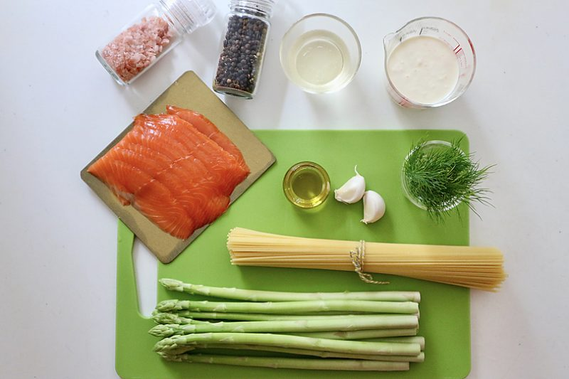 アスパラガスのクリームスパゲティの作り方