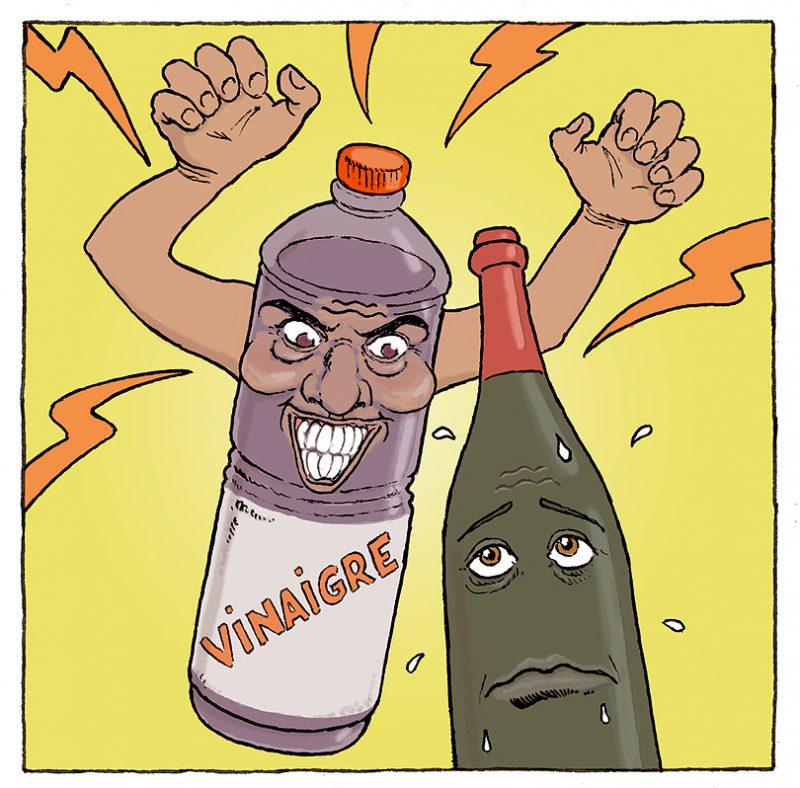 ビネガーはワインをゾンビにする!
