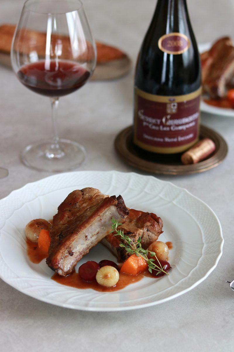 スペアリブのロースト アメリカンチェリーとバルサミコの赤ワインソースの作り方 作り方のポイント