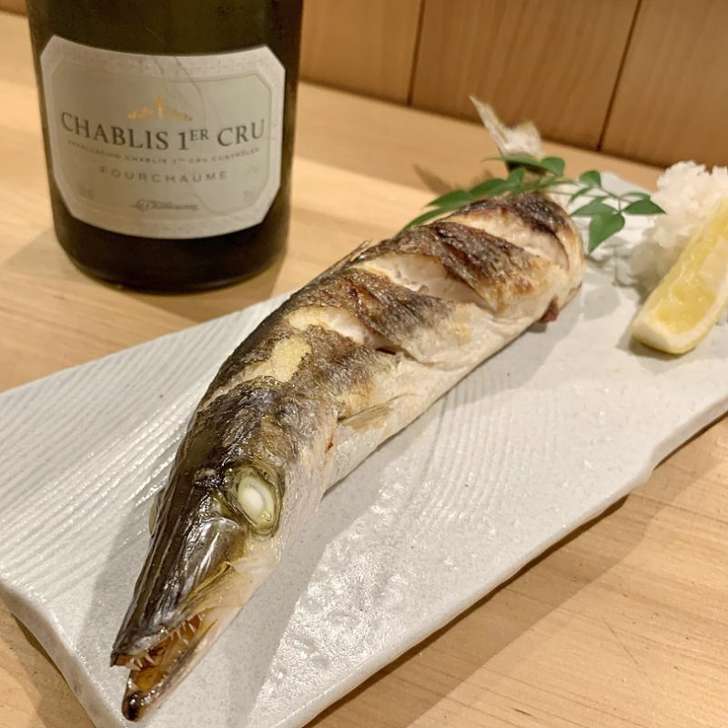 魚料理とワイン