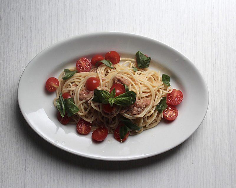 トマトとツナの冷製スパゲッティーニ 作り方のポイント
