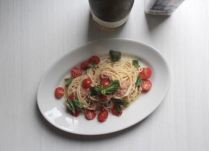 トマトとツナの冷製スパゲッティーニの作り方