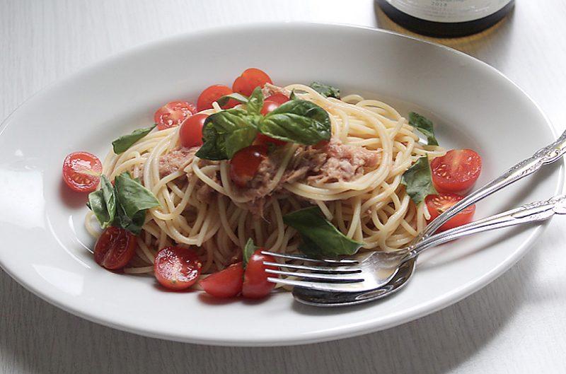 シャルドネとの相性ぴったり トマトとツナの冷製スパゲッティーニ