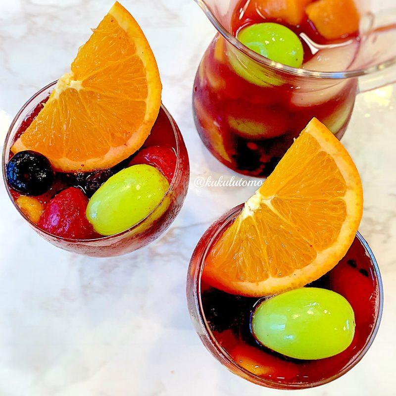 赤ワインのサングリアの作り方