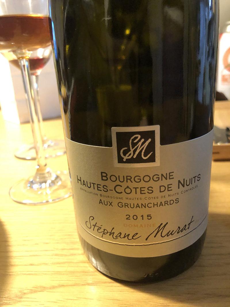 ステファン・ミュラ (Stéphane Murat)の「オート・コート・ド・ニュイ ルージュ(Hautes-Côtes de Nuits Rouge)」