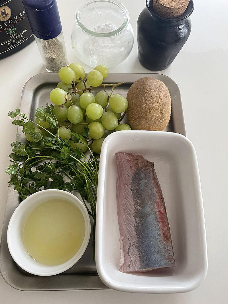 鮮魚と葡萄のマリネ キウイと山椒ソースの作り方